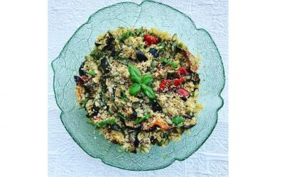 Roast Vegetables with Pesto Couscous